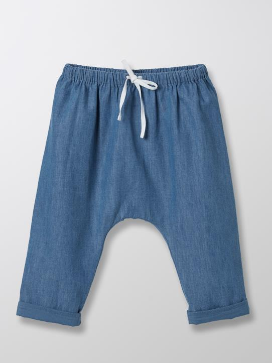Blue and Denim-Baby-Pluderhose