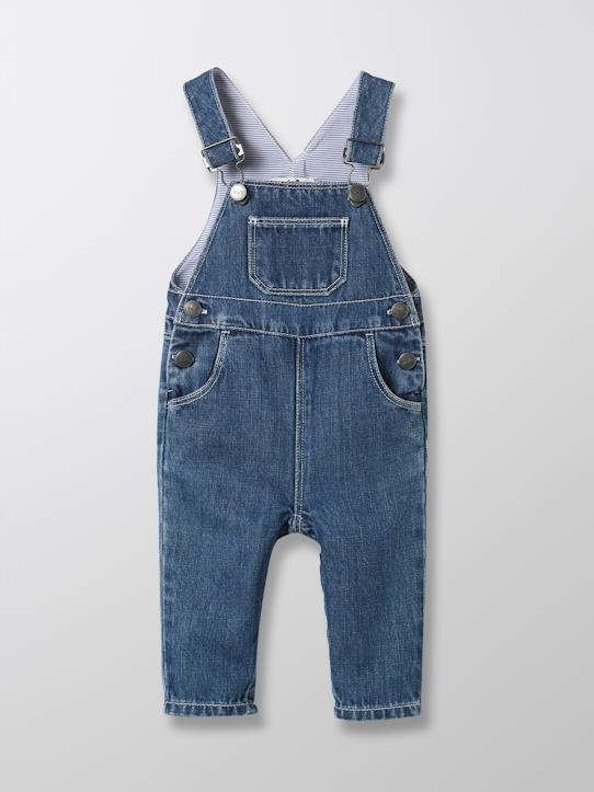 Blue and Denim-Baby-Latzhose, Denim