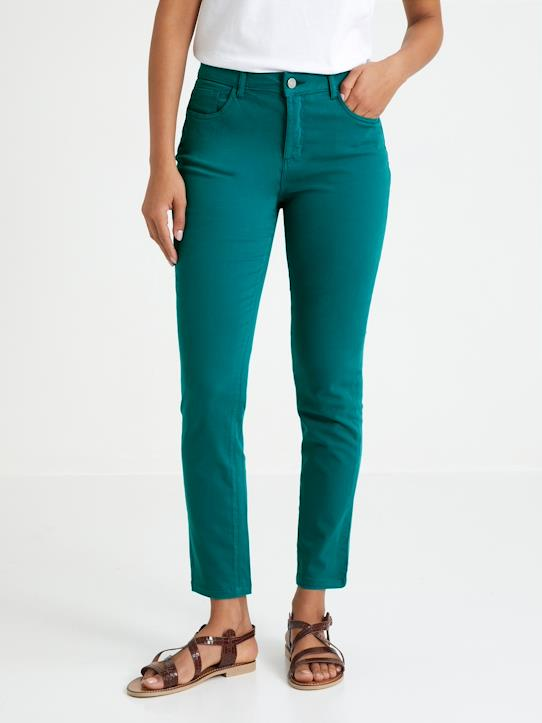 Blue and Denim-Slim Fit Damen Jeans in Farbe, 7/8-Länge Sacha
