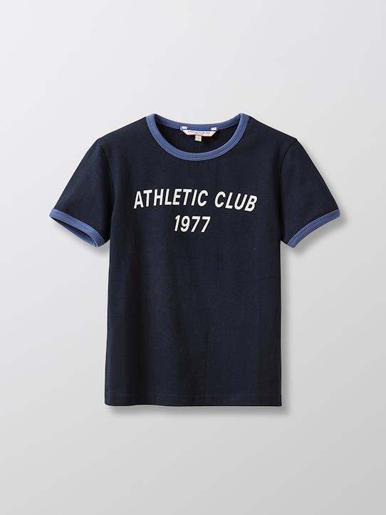 Sommerlooks-Jungen-Jungen-Shirt aus Bio-Baumwolle – Collection Athletic Club 1977