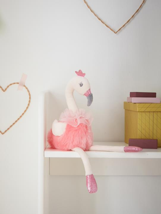 Herbst-Winter Kollektion-Interieur-Rosafarbenes Plüschtier « Flamingo »