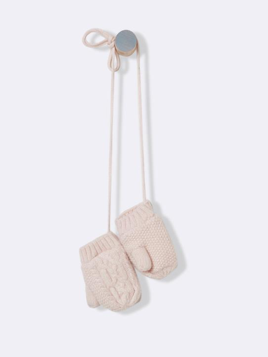 boutique-last-chance-Babys-Fausthandschuhe mit Sherpa-Futter