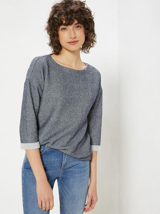 Damen-Pullover, Strickjacken-Damenbluse aus Pikee-Strick