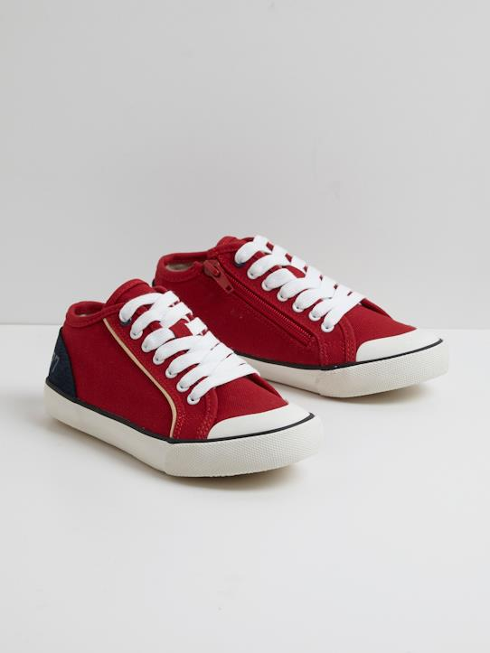 new style 737be a4dff Cyrillus Jungen-Turnschuhe aus Tuch in rot