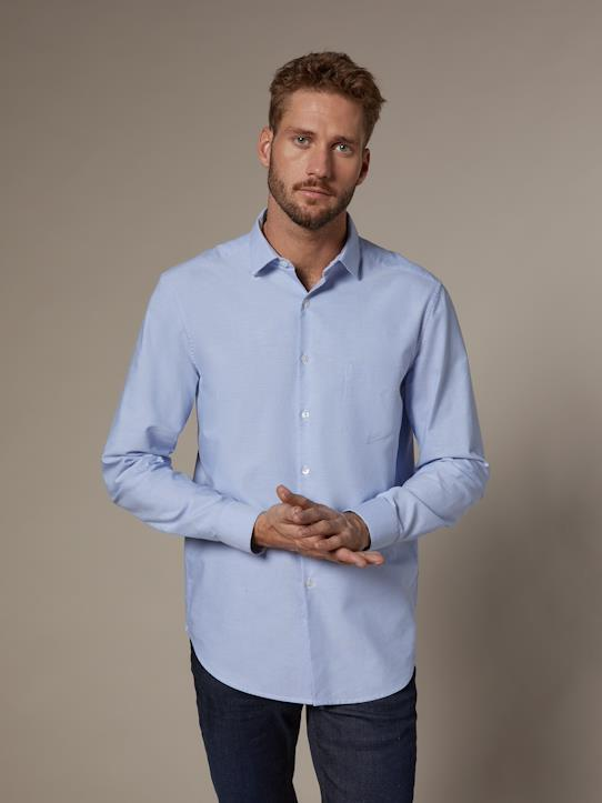 Herren-Herren Regular Fit Oxford-Hemd