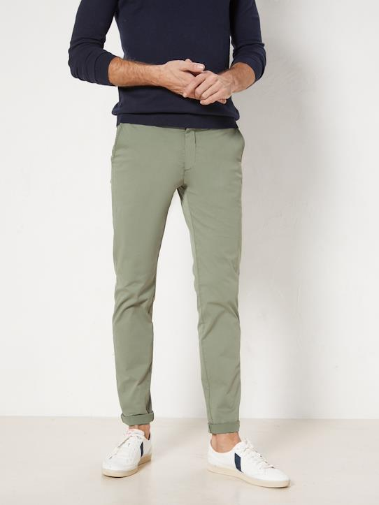 Herren-Herren Slim Fit Chinohose: Le Light