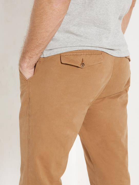 Herren Regular Fit Chinohose Karamell+Khaki+Marine