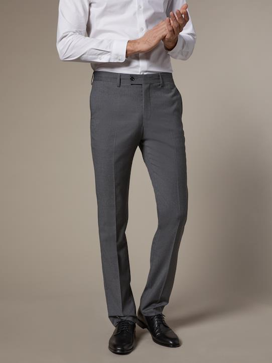 Business Look-Herrenhose, tailliert, knitterfreier Stoff