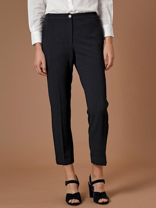 Business Look-Damen-Zigarettenhose aus Crêpe