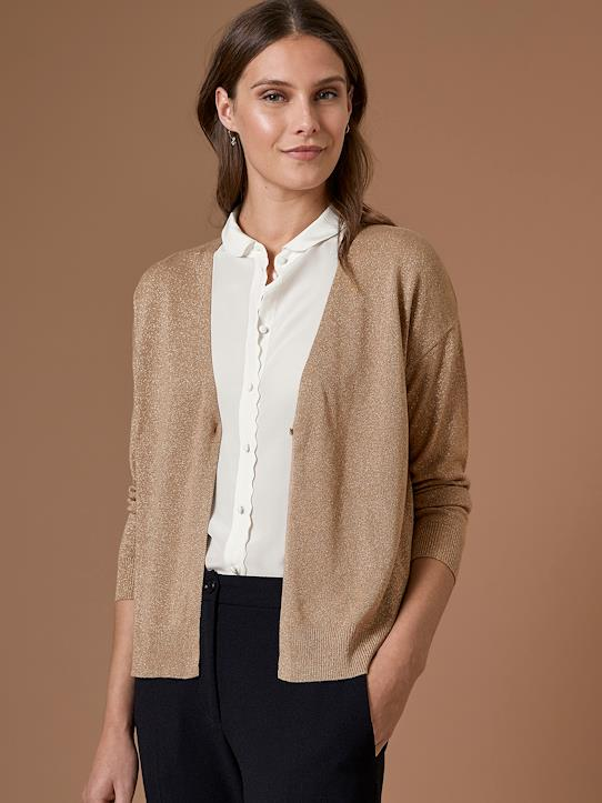 Damen-Pullover, Strickjacken-Damen-Cardigan, irisierend