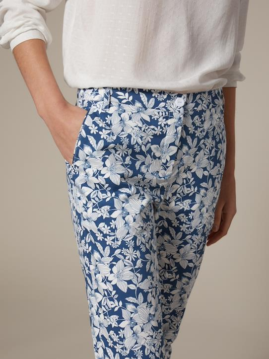 Damen-Chinohose Wallpaper-Print