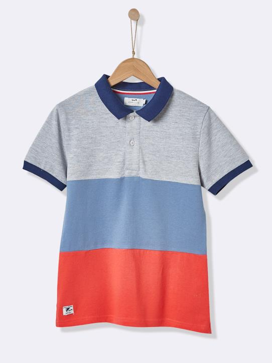 Color Block-Jungen-Jungen-Poloshirt, Colorblock