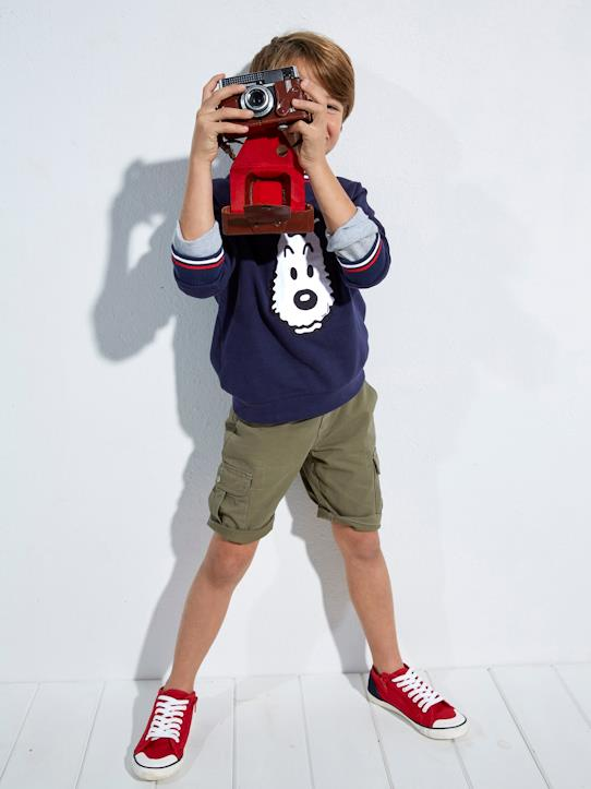 Color Block-Jungen-Jungen-Bermuda, Cargo-Look