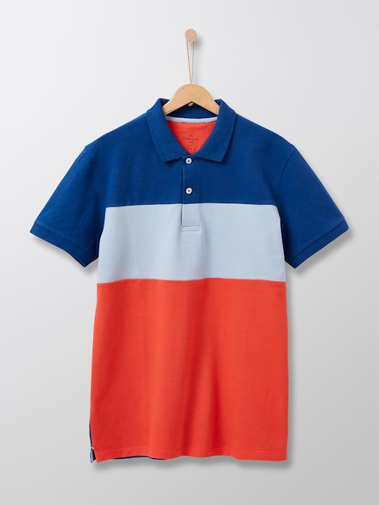 Color Block-Herren-Herren-Poloshirt im Colorblock