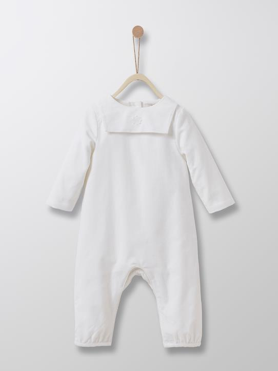 Babys-Baby Tauf-Overall aus Velours