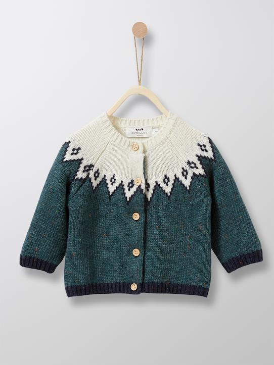boutique-last-chance-Babys-Baby-Strickjacke mit Jacquard-Muster
