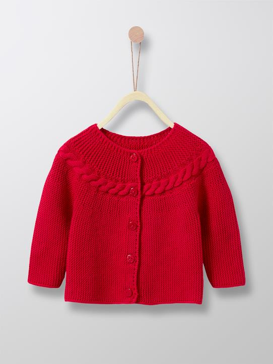 Baby  Dressing-Baby-Cardigan, Zopfmuster