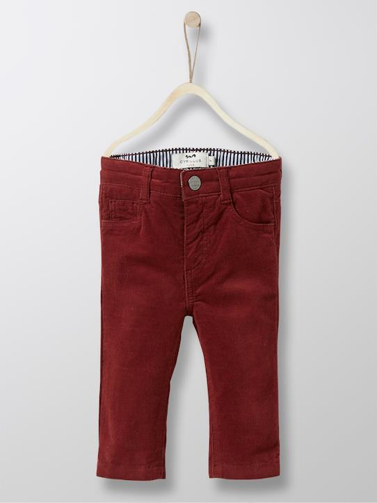 Velours-Baby Slim Fit Hose, Velours