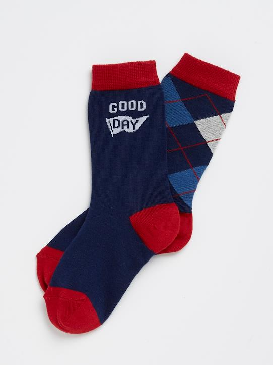 boutique-last-chance-Jungen-Jungen-Socken « good day » im 2er-Set