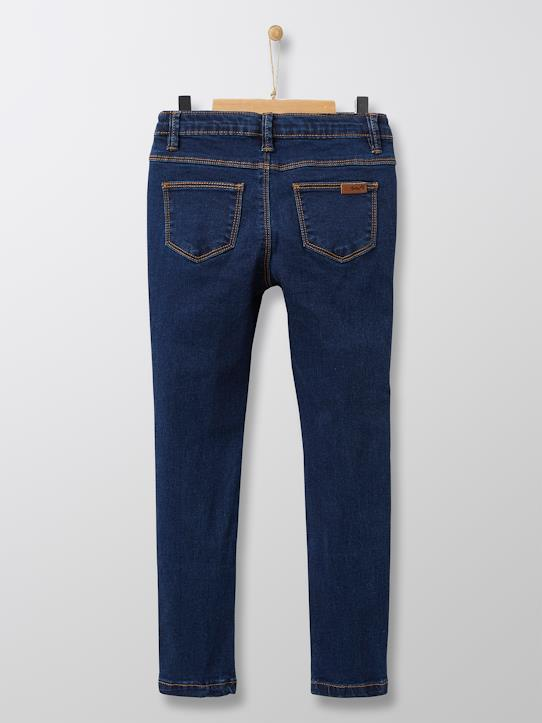 Mädchen-Jeans, Skinny Jeansblau+Dunkles Jeansgrau+Jeansblau Stone-Washed