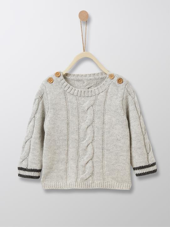 boutique-last-chance-Babys-Babypullover mit Zopfmuster