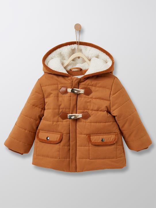 Unsere Recycling-Fasern-Baby-Dufflecoat