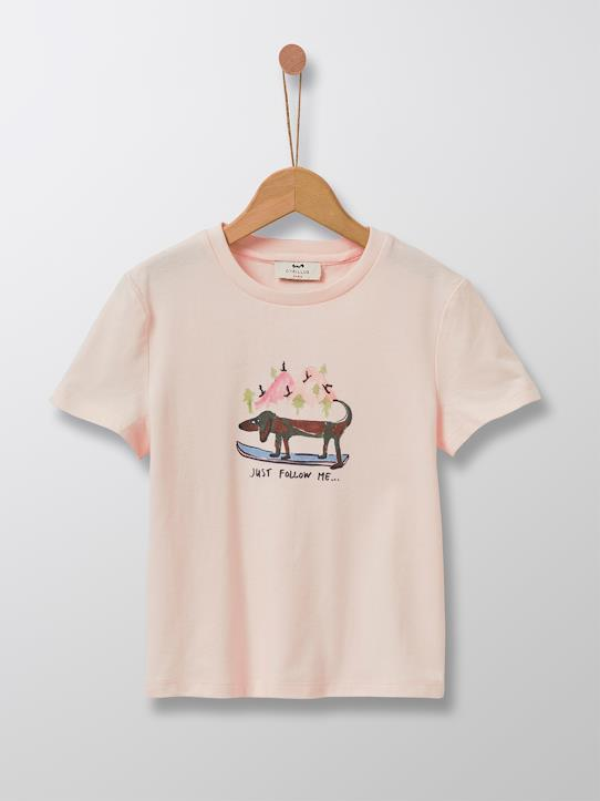 Outdoor-Mädchen T-Shirt, Illustration Madeleine