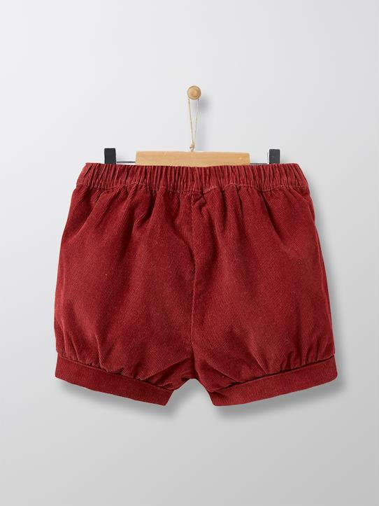 Velours-Babys-Baby-Shorts aus Velours in Ballonform