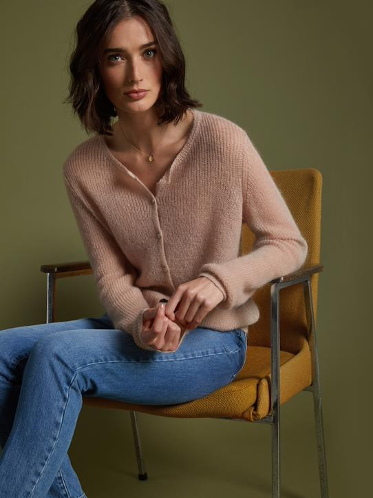 Damen-Pullover, Strickjacken-Damen-Cardigan aus weichem Strick
