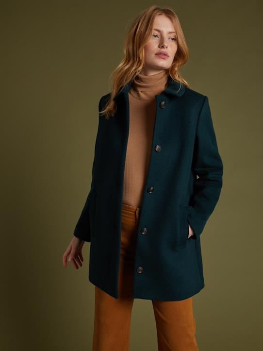 Damen-Einfarbiger Damen Carcoat-Mantel