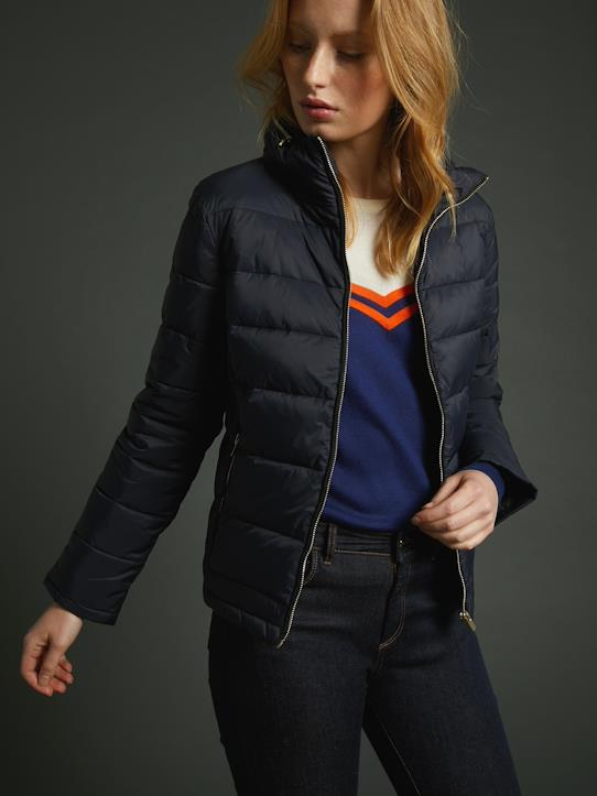 Pullis & Strickjacken-Damen-Kurze Damen-Steppjacke in enger Passform