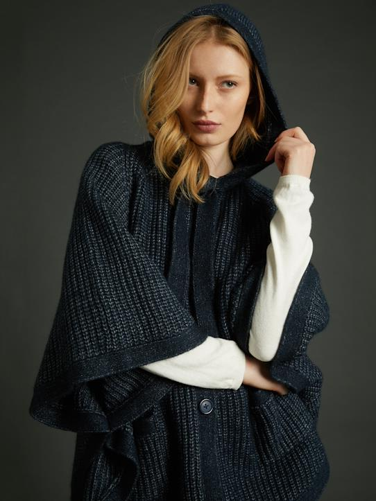 Damen-Pullover, Strickjacken-Damen-Cape, gestrickt