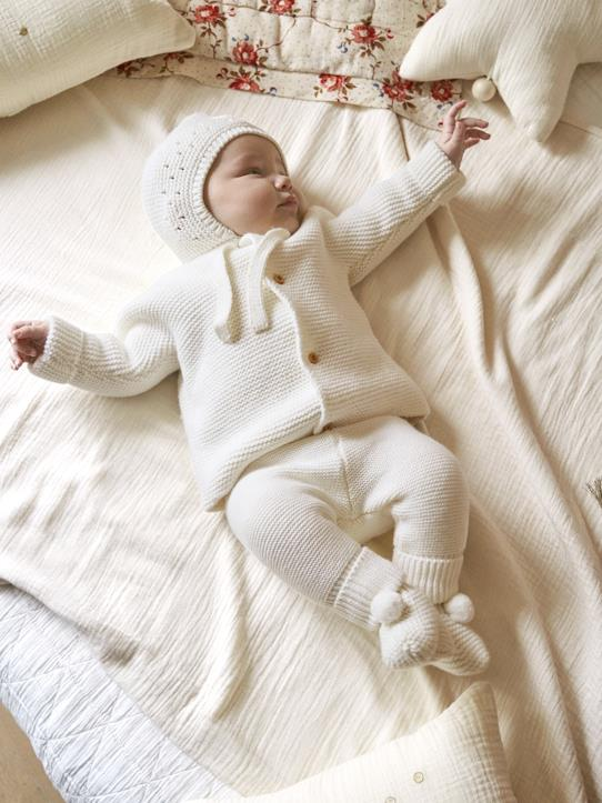 Lovely baby-Babys-Mädchen-Baby-Cardigan, Moosstrick