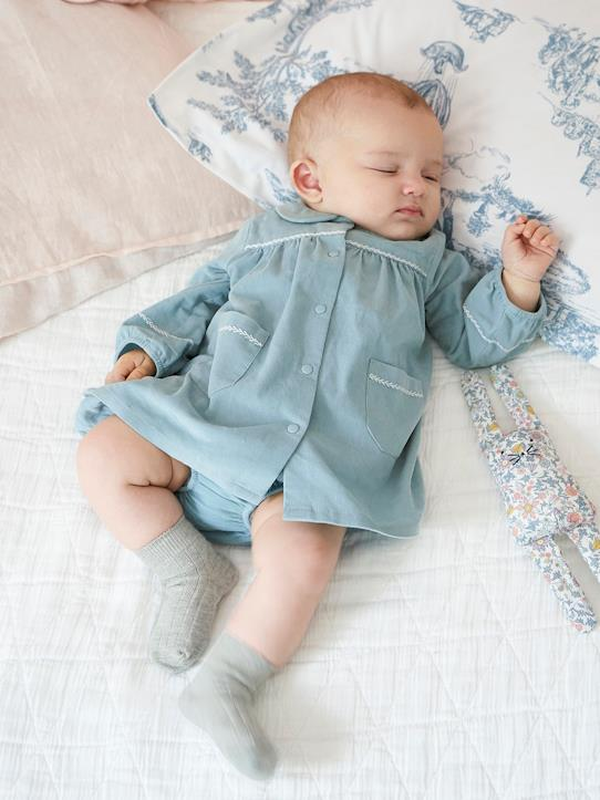Velours-Babykleid aus Velours mit Bloomer