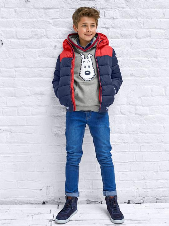 sale-Jungen-Jungen-Steppjacke, Colorblock