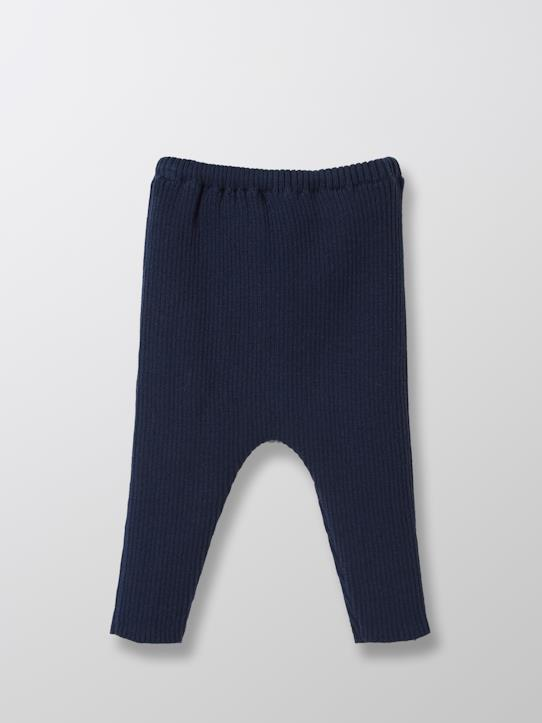Baby Strick-Leggings Marine+Grün