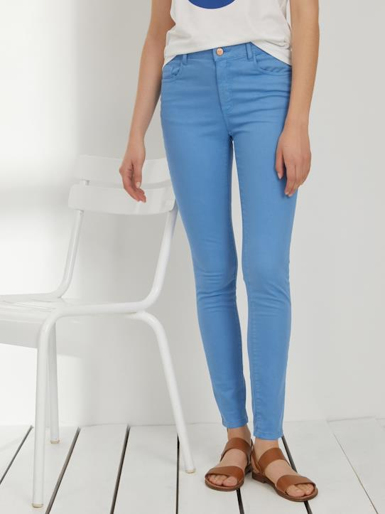 Damen-Slim Fit Damen Jeans in Farbe, 7/8-Länge