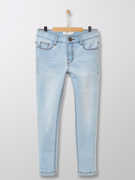 Mädchen-Jeans, Skinny Bleached+Stone
