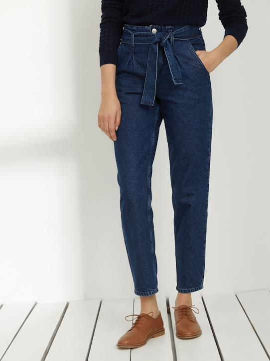 Blue and Denim-Damen-Damen-Karottenjeans