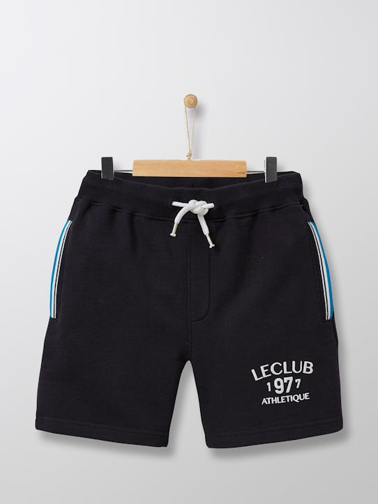 Jungen-Bermuda, Athletic Club Grau meliert+Marine