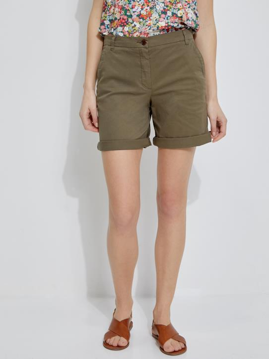 Damen-Shorts, Bermudas-Damen-Chinoshorts
