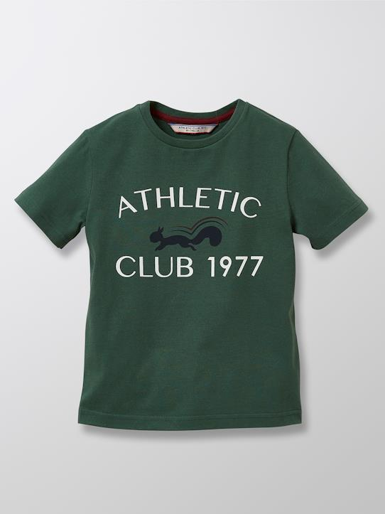 Herbst-Winter Kollektion-Jungen-Jungen T-Shirt aus Bio-Baumwolle Athletic Club 1977