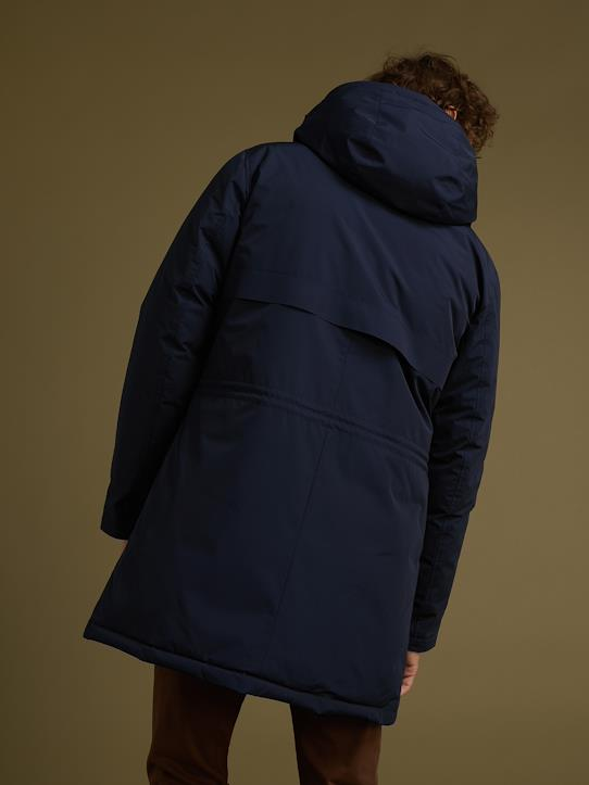 Herren-Parka in Daunen-Optik Marine