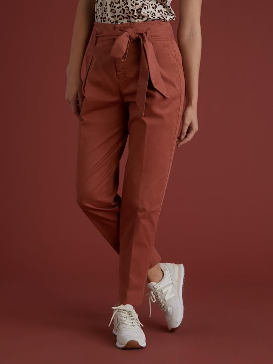 Blue and Denim-Damen-Damen Carrot Pant