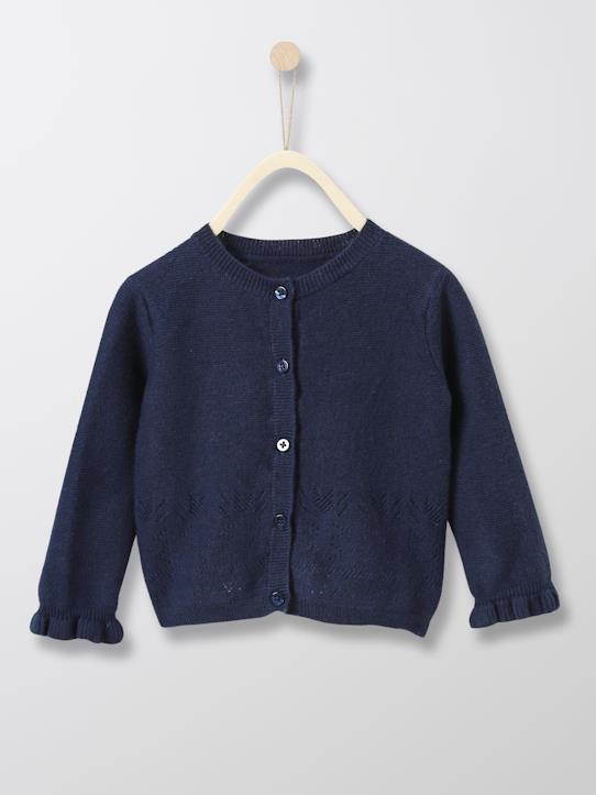 New hope-Baby-Cardigan mit Lochmuster