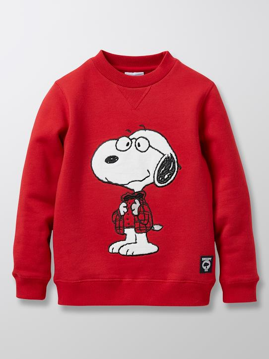 Kinder-Sweatshirt Cyrillus X Peanuts® – Collection Snoopy Rot