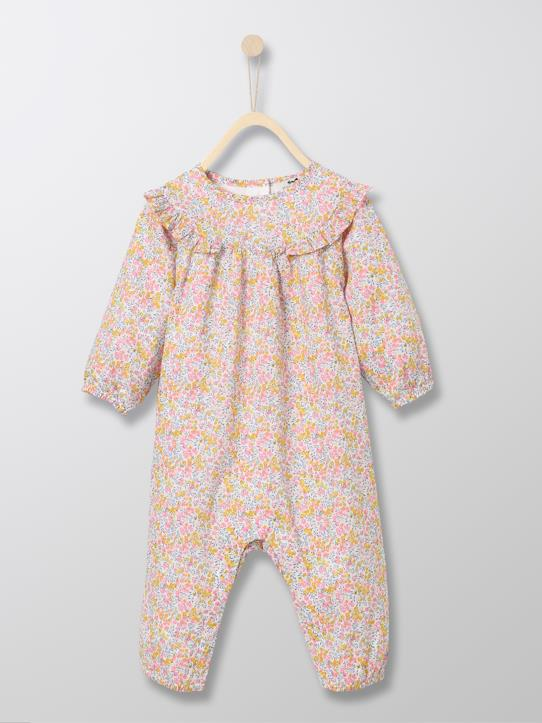 Herbst-Winter Kollektion-Baby-Overall aus Liberty®-Stoff