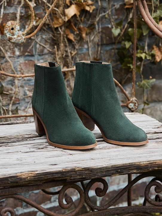 Black Friday-Damen Chelsea-Boots aus Veloursleder