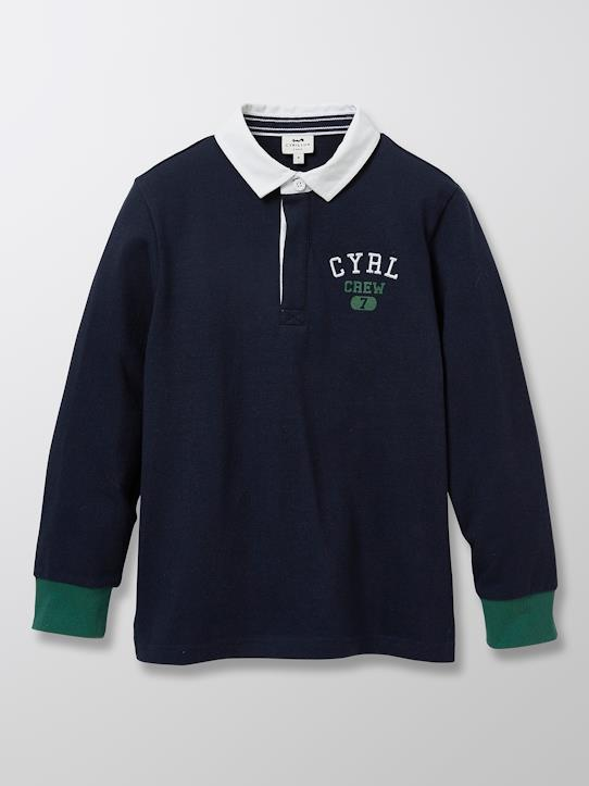 Herbst-Winter Kollektion-Jungen-Jungen Rugby-Shirt mit Polokragen, Athletic Club 1977