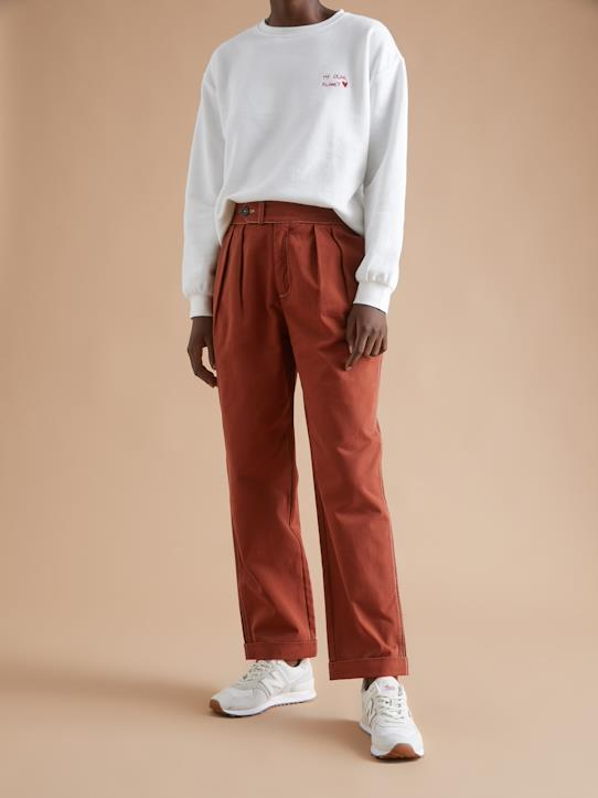 Blue and Denim-Damen-Damen Carrot Pant mit Abnähern
